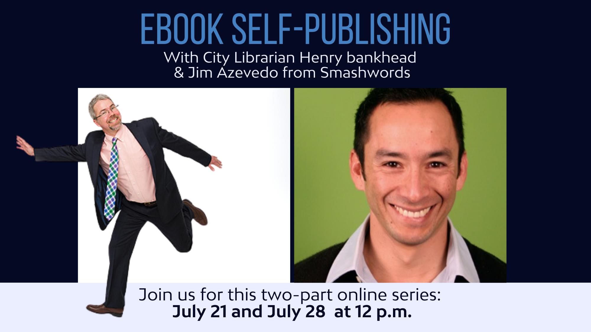 Two-Part Ebook Self-Publishing Webinar with SRPL & Smashwords @ Online via Zoom